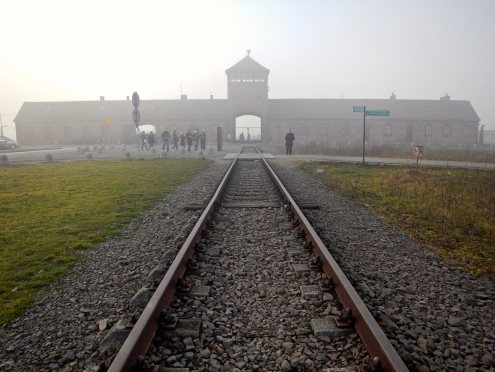 Railway entry to Auschwitz - Birkenau