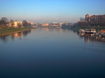 Serene Vistula river