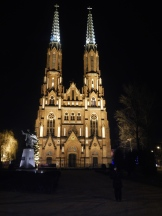 St's Michael & Florian church by night - Gothic style