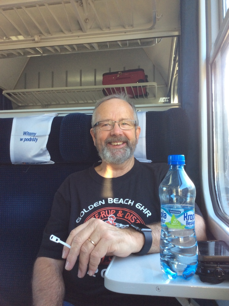On the train back to Warsaw