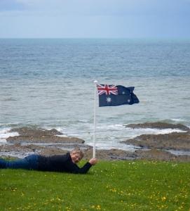 Jo flying the flag !