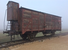 Transport carriage donated by Australian Frank Lowy who lost his father at age 13 in the holocaust