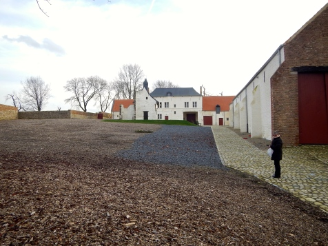 Inside the walls of Hougoumont Farm