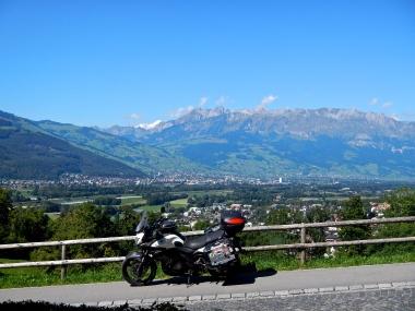 View over Vaduz, capital of Liechtenstein