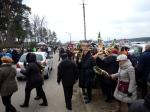 Many people come to Łyse for Palm Sunday celebrations