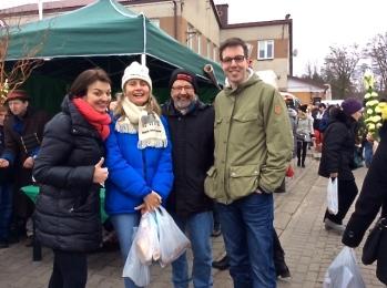 Basia, Beata, Span and Joris - very happy vodka and food tasters