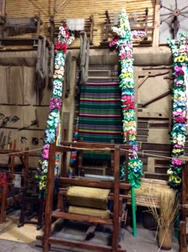 Museum showing Palms and weaving looms
