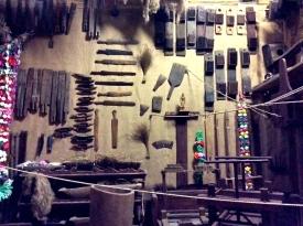 Very old weaving tools