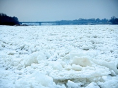 Now that's a LOT of ice and snow on the Vistula river