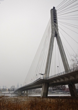 For the engineers - a more modern bridge across the Vistula