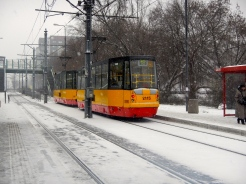 Snow does not stop the trams!