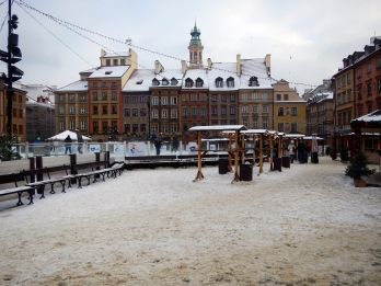 Old Town square - the trampled snow is no longer white