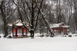 Just like a Christmas card - Chinese garden in Łazienki Park
