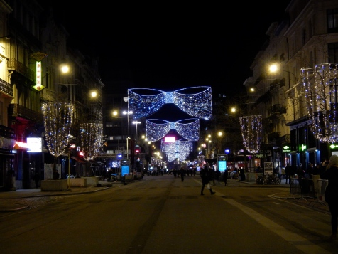 Brussels Christmas lights still shining