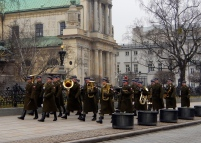 Soldiers on Parade near Castle Square
