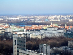 Warsaw from high - from viewing tower high atop the Palace of Culture and Science