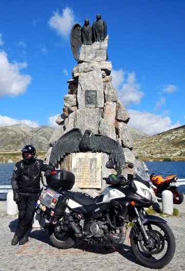 Monument to first flight over the Swiss Alps in 1913 (not that long ago..)