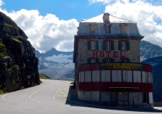 It's not unusual to find a hotel high in the alps