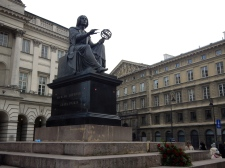 Nicholas Copernicus monument - famous Polish Astronomer
