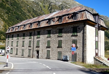 An old railway building deep in a alpine valley