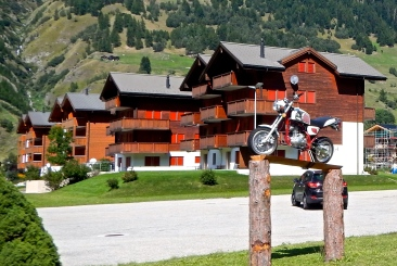 Bike (well minibike) friendly accommodation