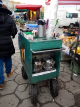 Tea trolley at the local market.. what a cracker!