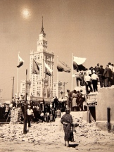 Opening of the Palace of Culture and Science in 1955, (aka 'The Russian Building' OR 'Elephant in Frilly Underwear) - Stalin's gift to the people of Poland