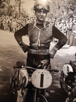 1947 - Street racing in Warsaw. Stanislaw Brun of Polish Motorcycle Club (PKM) won 2nd place in opening race featuring light motorcycles