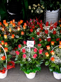 Flowers in Warsaw are so cheap. The biggest flower market is at Hala Miirowska - 35zl is about $12