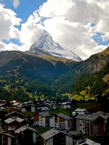 What a sight ! Our first view of the Matterhorn