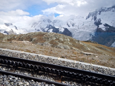 A section of the cog railway