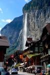 The waterfall over Lauterbrunnen
