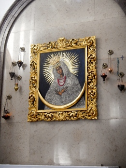 Beautiful image Our Lady in St Kazimierz Church in New Town