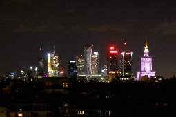 Warsaw by night - from our apartment window
