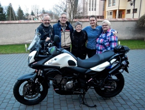 John, Mirak, Jo, Iza and Jadwiga - Thankyou for looking after our bike so well over winter