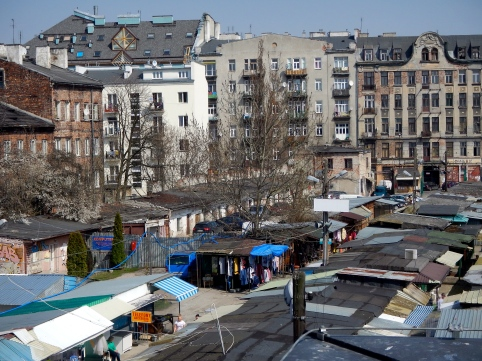 Looking back over old market in Praga from New museum