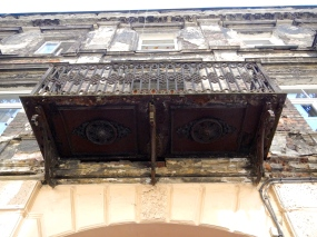 The detail on the underside of this old balcony is just superb
