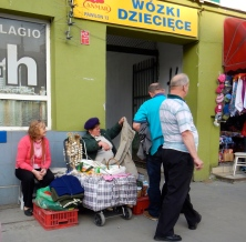 Only a few things to sell - outside the bazaar in Praga