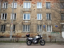This beautiful old building in Praga still shows the ravages of war