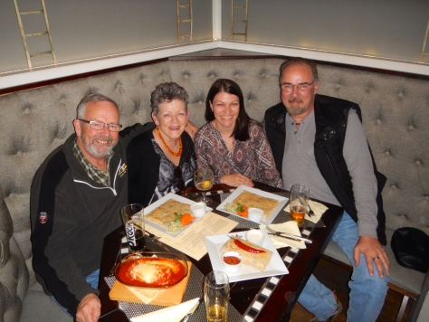 Span, Me, Diana and Greg. One of a few meals we happily shared together