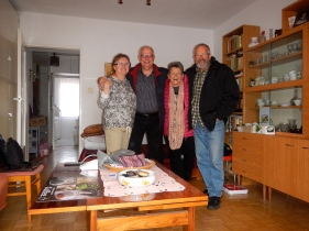 Jadwiga, Jacko and Us in their apartment