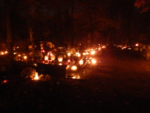 Warsaw cemetery by night on All Saint's Day - so amazing