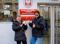 Very happy to have our 12 month Polish Visa and ID cards!!