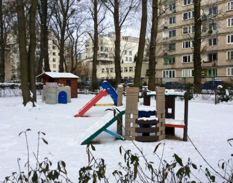 Children's playground near our flat in Old Mokotow, very colourful