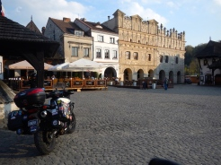 Tenement houses in market square - under St Nicholas (left) and St Christopher (right)