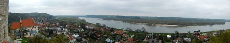 Panoramic view of Kazimierz Dolmy and the Vistula river