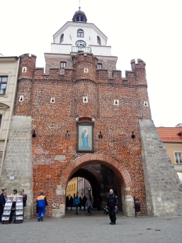Cracow Gate - built as a part of city walls in the first half of the 14th century. It marked the start of the road from Lublin to Crakow