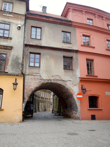 Beautiful old arch into Old Town Lublin