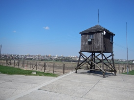 One of many guard posts, with the city of Lublin clearly visible