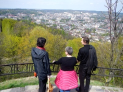 Looking back over Lviv from Castle hill